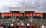 Terminal Baru Bandara Tjilik Riwut di Palangkaraya, Kalimantan Tengah.
