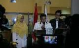 Presiden PKS Sohibul Iman menyampaikan keterangan pers usai menggelar sidang majelis syuro istimewa di kantor DPP PKS,  Jakarta, Selasa (7/8).