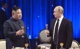 Presiden Rusia Vladimir Putin dan pemimpin Korea Utara Kim Jong-un bertemu di Vladivostok