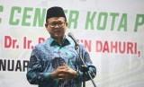 Prof Rokhmin Dahuri memberikan ceramah dalam rangka peletakan batu pertama pembangunan Islamic Center Palu.