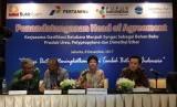 PT Bukit Asam Tbk menggandeng PT Pertamina (Persero), PT Pupuk Indonesia (Persero) dan PT Chandra Asri Petrochemical Tbk untuk melakukan hilirisasi batubara dengan menggunakan teknologi gasifikasi, Jumat (8/12).