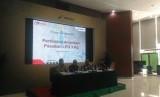 PT Pertamina (Persero) menjelaskan kelangkaan elpiji tiga kilogram bersubsidi di kantor pusat Pertamina, Jumat (8/12).