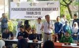 Pusat Kesehatan Haji (Puskeshaj) Kementerian Kesehatan (Kemenkes) bersama Dinas Kesehatan Provinsi Sumatera Selatan  melaksanakan pembinaan kesehatan jamaah haji, Kamis (18/4).
