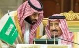Putra Mahkota Arab Saudi Pangeran Mohammed bin Salman dan Raja Salman.