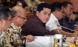 Menteri BUMN Erick Thohir saat rapat dengan Panja DPR soal Jiwasraya