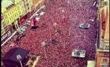 Ratusan ribu warga Kroasia menyambut timnas mereka.