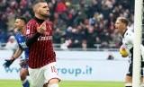 Rebic merayakan gol kemenangan AC Milan atas Udinese, di San Siro, Ahad (19/1).