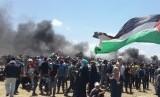 Ilustrasi ribuan warga Palestina.