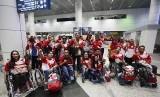 Rombongan Para Games Indonesia yang akan berlaga di ASEAN Para Games 2017 Kuala Lumpur.
