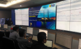 Ruang monitoring pembangkit listrik di Kantor Pusat PJB di Surabaya, Jawa Timur.