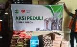 Rumah Zakat dan UPZ AL Khidmat Korpri BKN bantu penyintas gempa Ambon.