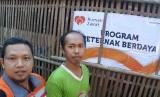 Salah satu penerima manfaat pemberdayaan ekonomi Rumah Zakat, panen perdana berlokasi di Desa Kalinongko, Kecamatan Loano, Kabupaten Purworejo.