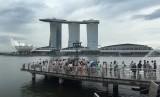 Salah satu sudut Kota Singapura.