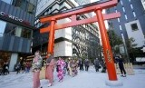Salah satu sudut Kota Tokyo, di distrik pusat perbelanjaan dan perkantoran Nihonbashi.