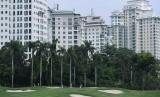 Sejumlah atlet golf mengikuti Test Event Golf Road to Asian Games 2018 di Pondok Indah Padang Golf, Jakarta Selatan, Selasa (31/10).