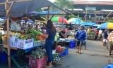 Sistem belanja daring diterapkan dengan menggandeng aplikasi Gojek (Foto: Pasar Badung, Bali)