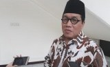 Sekretaris Jenderal Dewan Masjid Indonesia Imam Addaruqutni usai menemui Wapres Maruf Amin di Kantor Wapres, Jakarta, Senin (24/2).