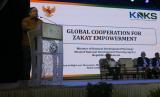 Sekretaris Jenderal Forum Zakat Dunia atau World Zakat Forum (WZF), Prof Bambang Sudibyo menyampaikan Resolusi Melaka 2018.