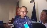 Sekretaris Jenderal PAN Eddy Suparno saat diwawancarai di Kantor DPP PAN, Jalan Senopati, Jakarta, Rabu (22/8).