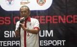 Sekretaris Kementerian Pemuda dan Olahraga Gatot S Dewa Broto dalam konferensi pers Simposium tentang Esport pada Haornas 2019, di Kantor Kemenpora, Kamis (5/9).