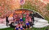 Selebrasi Atletico Madrid seusai menjuarai Liga Europa musim 2017/2018.