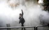Demonstrasi di Iran (ilustrasi).