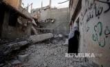 Zionis Israel pernah tercatat lancarkan operasi jajah Palestina tiap 10 tahun. Ilustrasi militer Israel hancurkan perumawan warga Palestina.