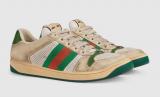 Sepatu Gucci dengan gaya kotor.
