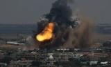 Serangan militer Israel di Jalur Gaza.