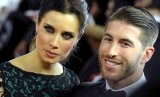 Sergio Ramos dan istrinya Pilar Rubio.