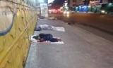 Setiap malam hari di pertokoan proyek jalan Ir H Djuanda, Kota Bekasi banyak dipenuhi gelandangan (ilustrasi).
