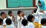 Siswa pendidikan anak usia dini (PAUD) mengunjungi museum (ilustrasi).
