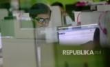 Siswa-siswi mengikuti Ujian Nasional Berbasis Komputer (UNBK). (Ilustrasi)