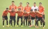 Skuat Persija menghadapi Persela pada Suramadu Super Cup 2018, Jumat (12/1).