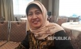 Staf Khusus Presiden Joko Widodo, Siti Ruhaini Dzuhayatin saat  diwawancara dalam kegiatan Workshop Internasional yang digelar Balitbang  Kemenag di Nusa Dua, Kabupaten Badung, Bali, Senin (10/12).