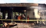 Stasiun Klender pasca kebakaran, Jumat (19/5).