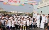 Suasana 2018 Asian Games OCA Fun Run yang berlangsung Ahad (15/4)  di Oman.