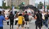 Suasana di lokasi Asian Fest, Asian Games 2018, di SUGBK, Senayan, Jakarta