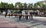 Suasana di Mapolda Riau, Pekanbaru, Rabu (17/5).
