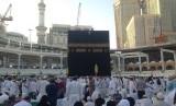Suasana Kabah di Masjidil Haram, Makkah, Arab Saudi