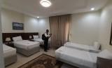Suasana kamar hotel Al Oksh di kawasan Sektor 6, Mahbas Jin, Kota Makkah. Hotel ini akan menampung jamaah haji asal Kloter 1 Surabaya yang akan tiba di Makkah pada Ahad (14/7) malam waktu Arab Saudi.