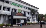 Suasana Kantor Bupati Subang di Jl Dewi Sartika No 1, tampak sepi pasca OTT Bupati Imas Aryumningsih oleh KPK, Rabu (14/2).