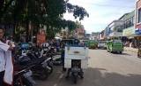 Sebuah kajian menyebut Kota Bogor cocok dilintasi kendaraan sejenis trem. Foto salah satu sudut Kota Bogor di Jalan Suryakencana (ilustrasi)
