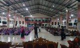 Suasana pelatihan menulis dan jurnalistik di Ponpes Latansa Lebak, Banten, Sabtu (16/9).