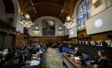 Suasana pengadilan internasional (ICJ) kasus Rohingya di Den Haag, Belanda, Rabu (11/12). Pengacara Kanada William Schabas dikritik karena membela Myanmar di pengadilan.