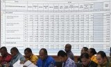 Suasana Rapat Pleno Rekapitulasi Hasil Penghitungan dan Perolehan Suara Tingkat Nasional Dalam Negeri dan Penetapan Hasil Pemilu 2019 di Jakarta, Sabtu (18/5/2019).