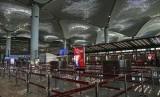 Suasana ruang check in Bandara Istanbul yang diresmikan Presiden Turki Recep Tayyip Erdogan, Senin (29/10).