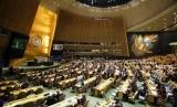 Suasana sidang Majelis Umum PBB sebelum pemungutan suara terhadap resolusi yang menentang pengakuan sepihak AS atas Yerusalem sebagai ibu kota Israel, Kamis (21/12).