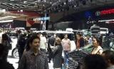 Suasana stan Toyota di  Gaikindo Indonesia International Auto Show