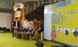 Suasana talk show seputar travel halal yang digelar di Jakarta, Sabtu (21/9).